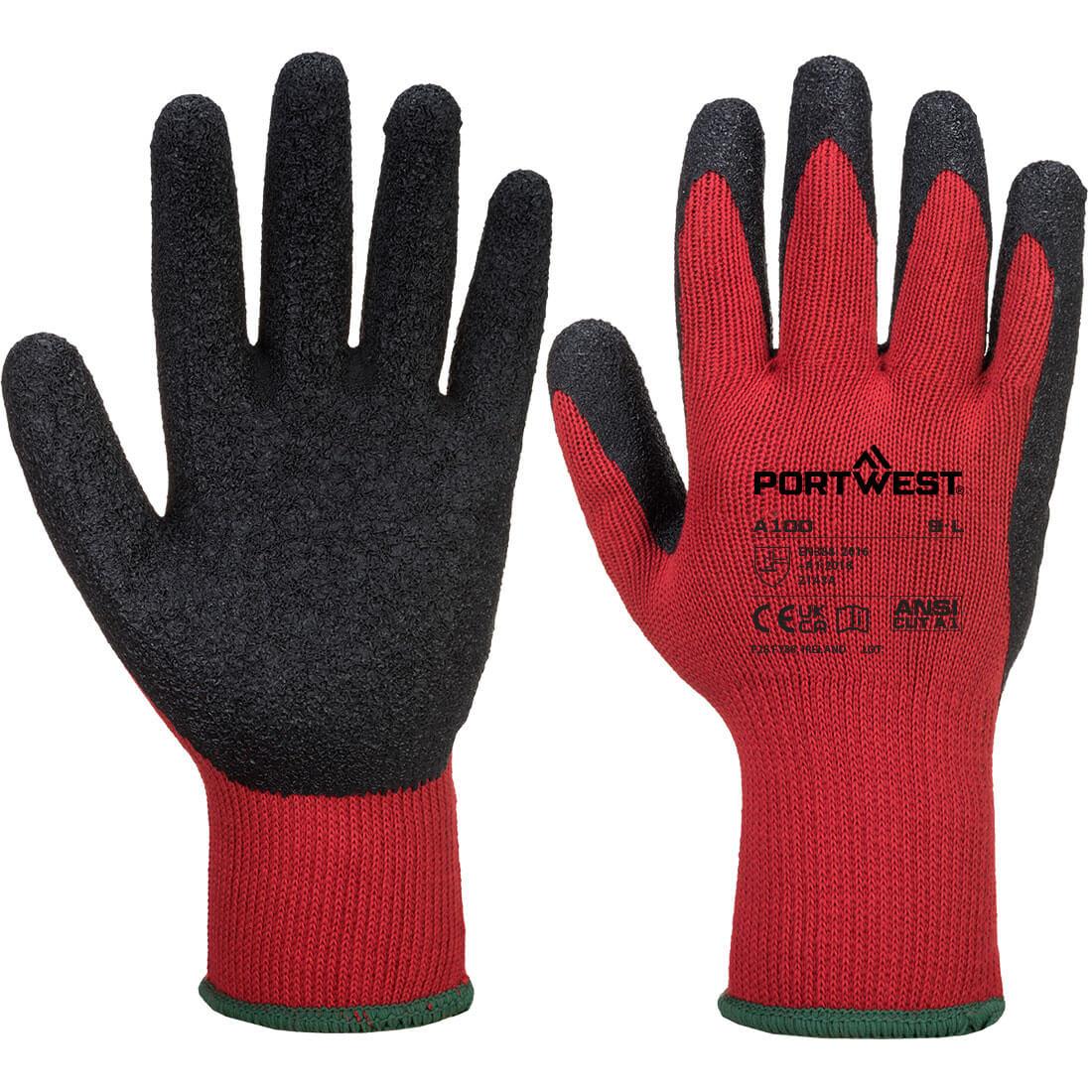 Grip Glove - Latex Red/Black Medium