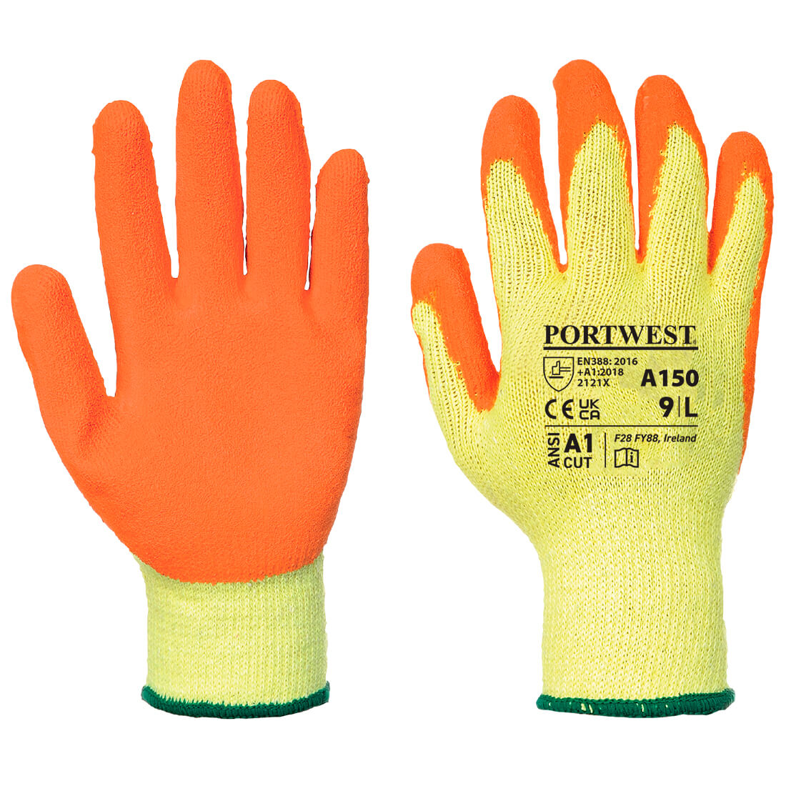 Classic Grip Glove, Orange     Size Small R/Fit