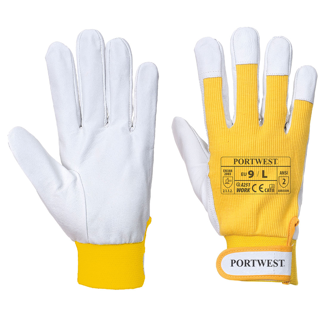 Tergsus Micro Glove, Yellow     Size Large R/Fit