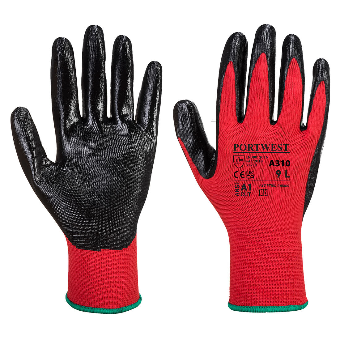 Flexo Grip Nitrile Glove Red/Black Medium