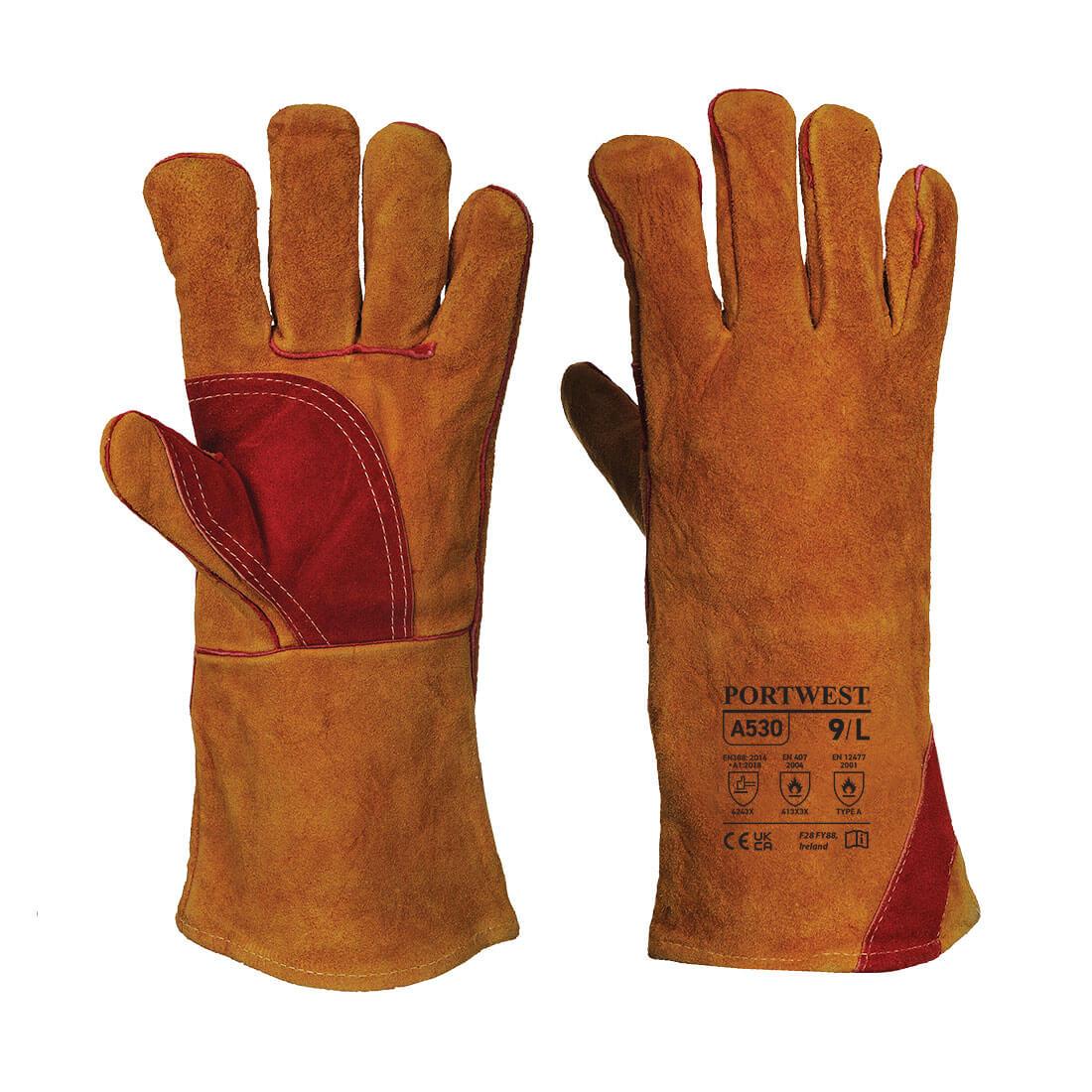 Welding Gauntlet, Brown      Size XL R/Fit