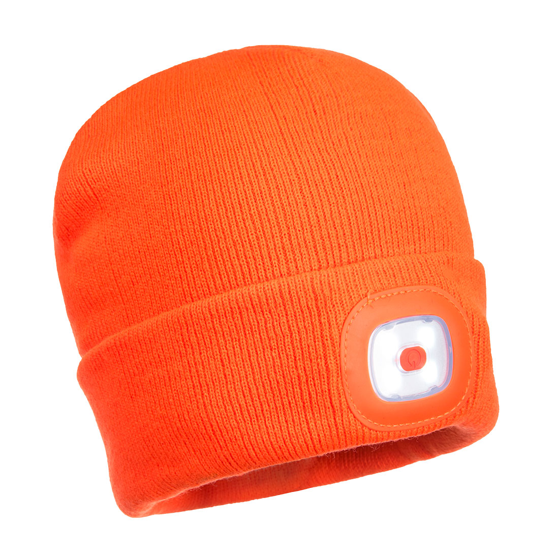 Rechargeable LED Beanie, Orange  R/Fit