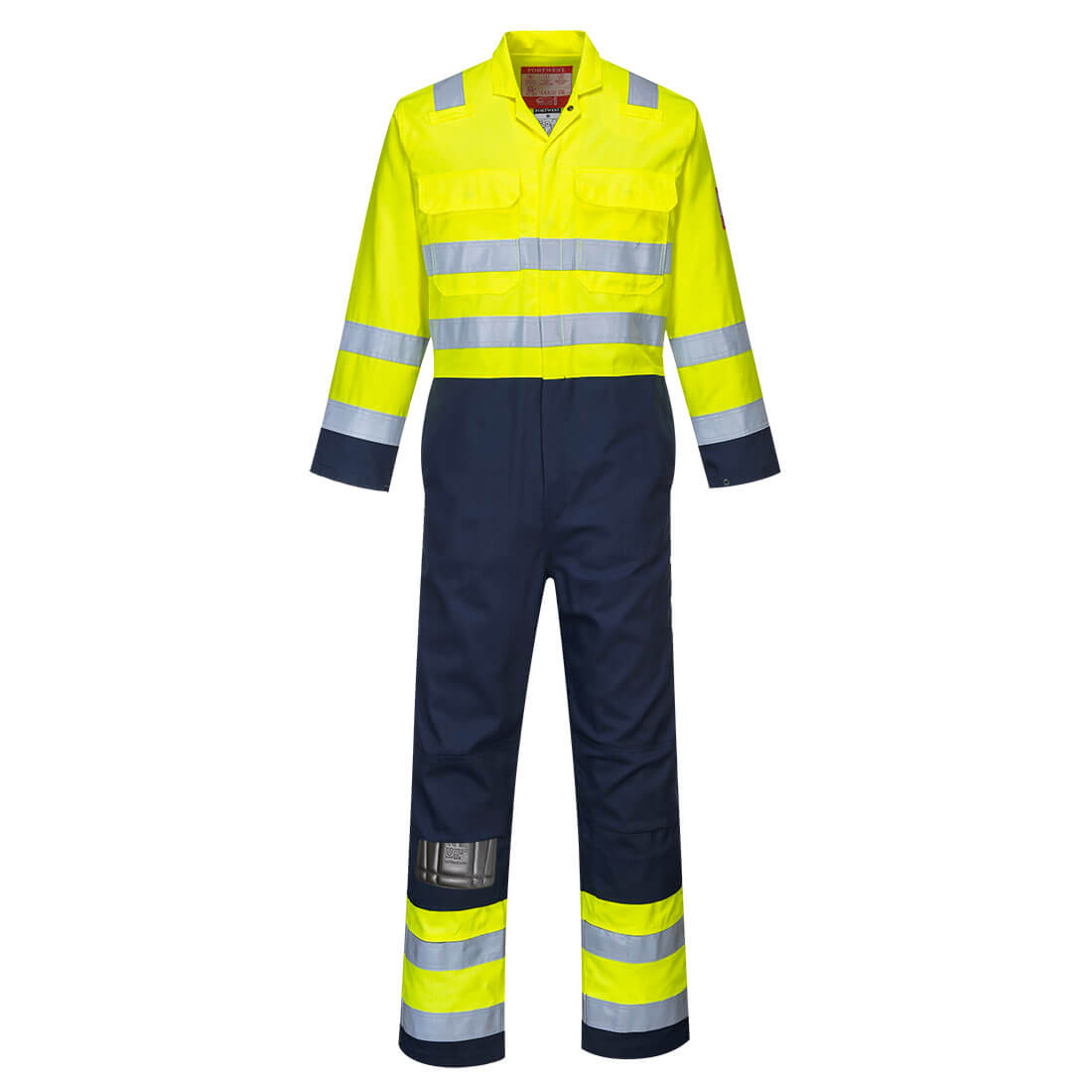 Hi-Vis Anti-Static Bizflame Pro Coverall Yellow Medium
