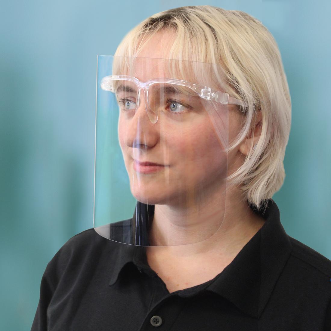 Portwest Base 250 Micron APET Face Shield Glasses (100)