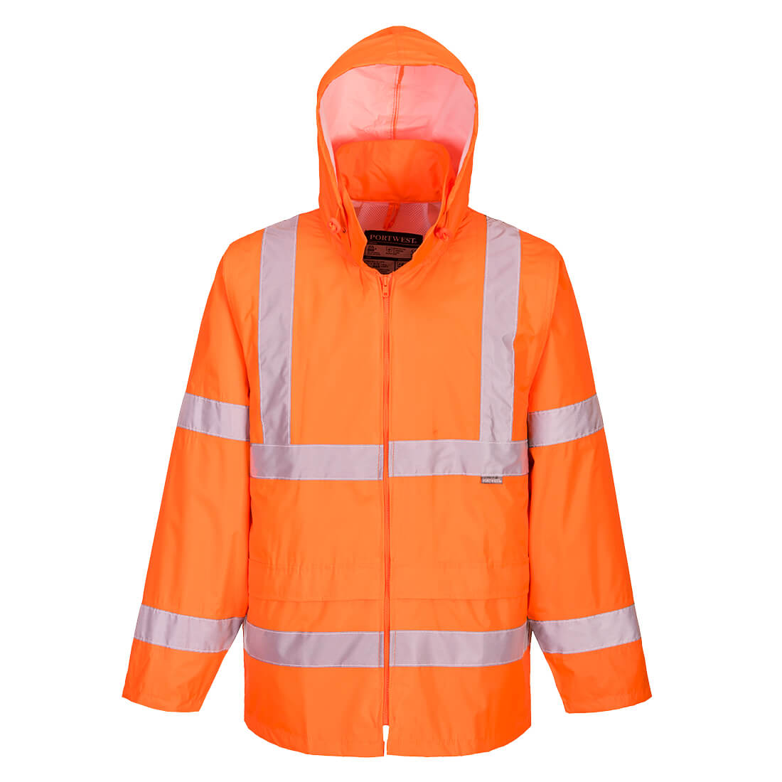 Hi-Vis Rain Jacket Orange Large