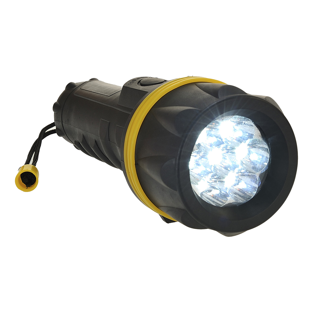 7 LED Rubber Torch, YeBk  R/Fit