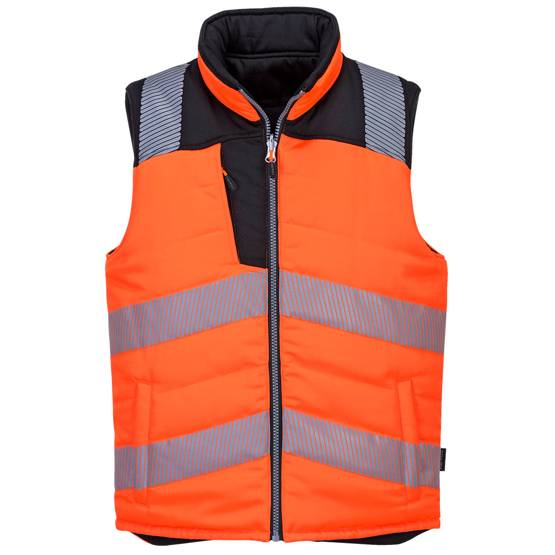 PW3 Hi-Vis Reversible Bodywarmer Orange/Black Small