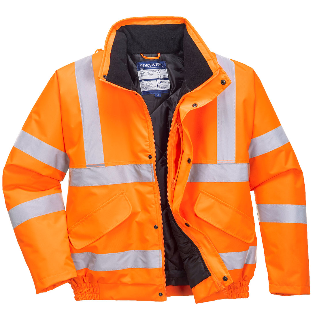 Hi-Vis Bomber Jacket RIS Orange XL