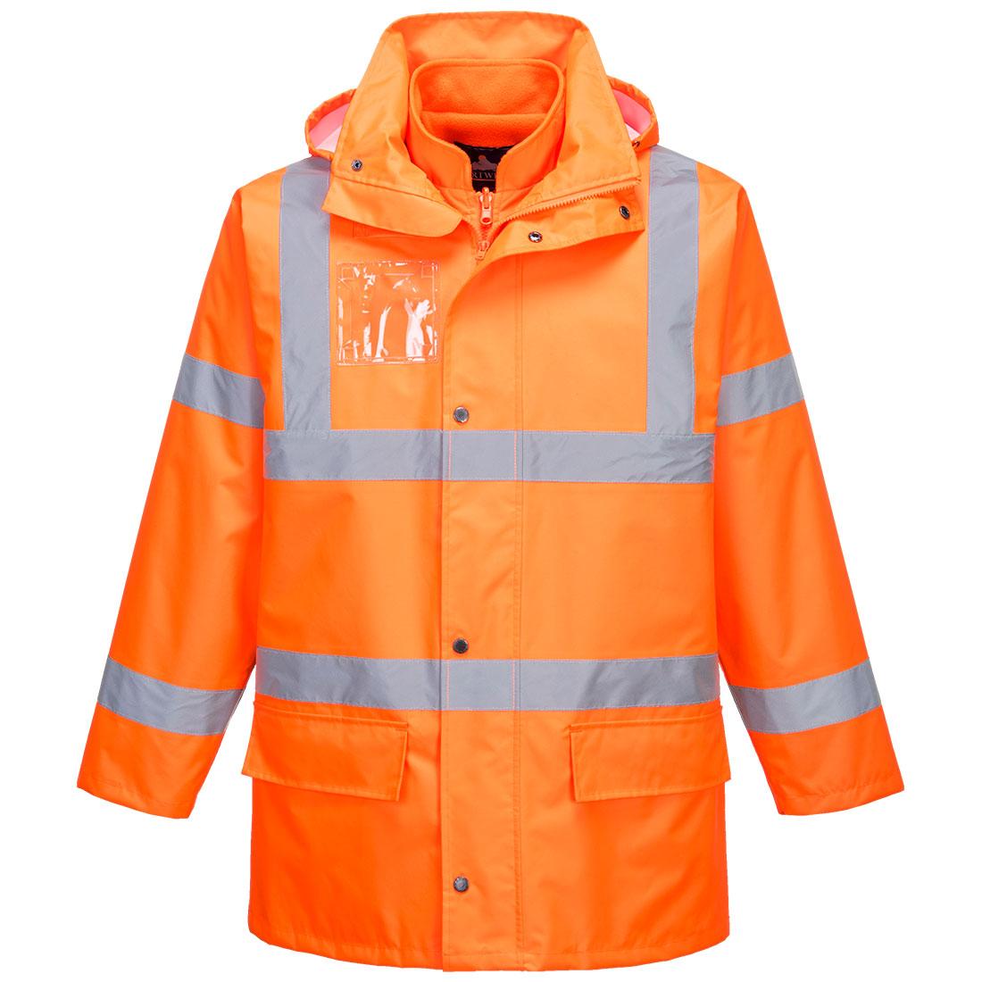 Hi-Vis Essential 5-in-1 Jacket Orange XL