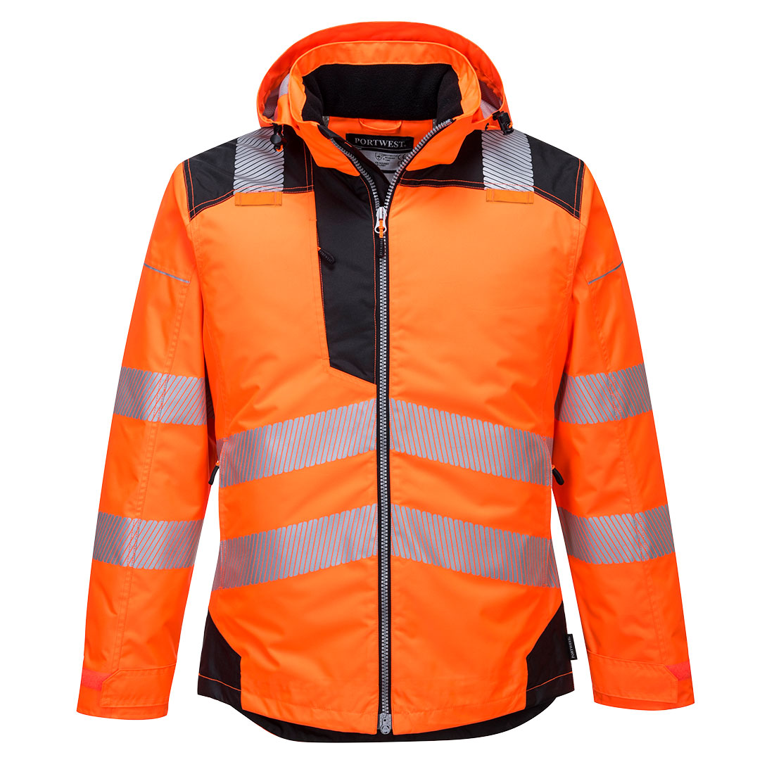 PW3 Hi-Vis Winter Jacket Orange/Black XXL