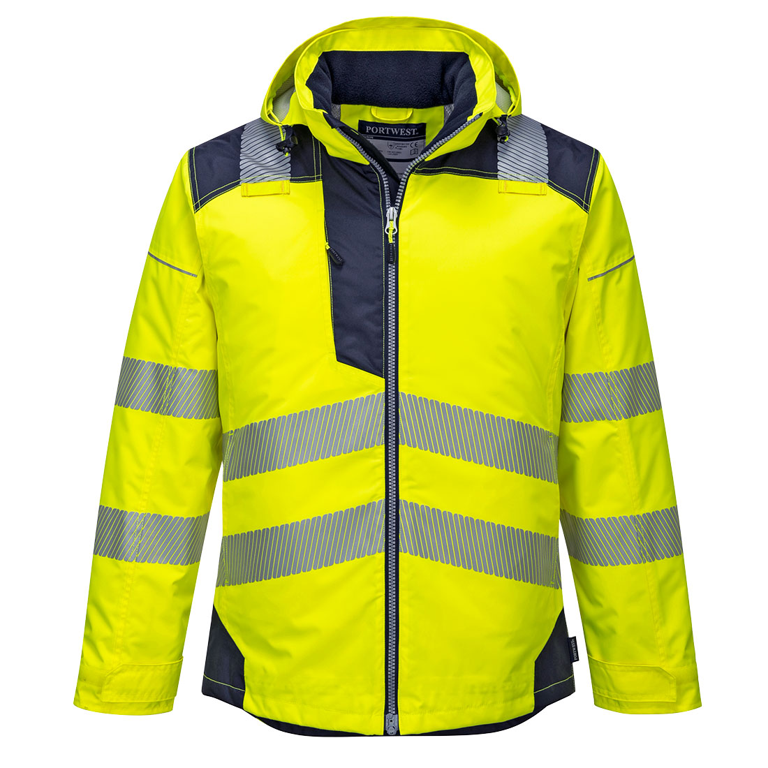 PW3 Hi-Vis Winter Jacket Yellow 3 XL